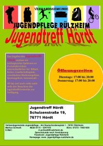 Öffnungszeiten 2019 Jugendtreff Hördt