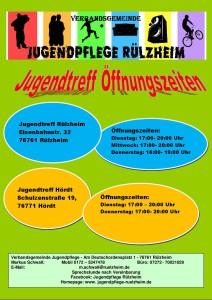Öffnungszeiten 2019 Jugendtreffs der VG