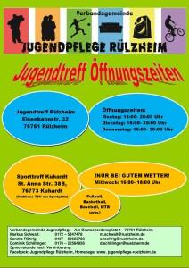 Öffnungszeiten 2021 Jugendtreffs der VG