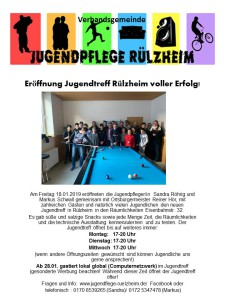Eröffnung Jugendtreff Rülzheim voller Erfolg!