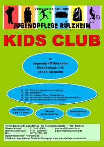 Kids Club Programm Programm bis anfang dezember