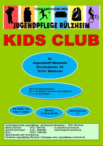 Kids Club Programm Teil 2