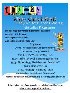 Kids Club ab August 2017
